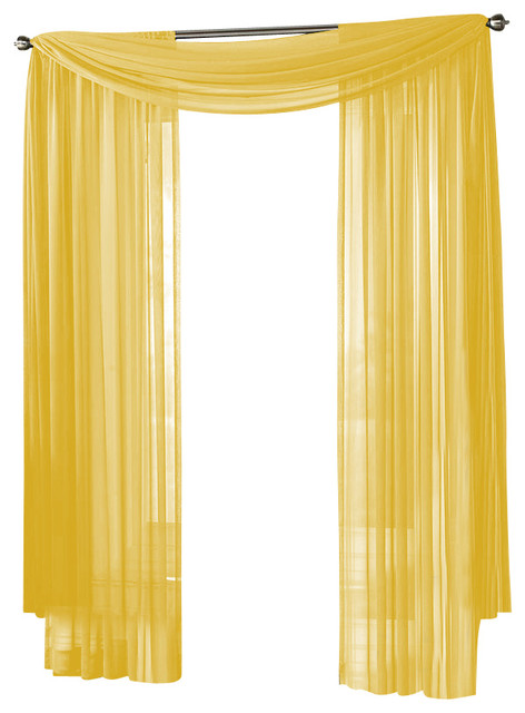 HLC.ME Sheer Curtain Window, Neon (Bright) Yellow, Panel - Traditional - Curtains - by Home ...