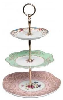 Three-tier Regency Cakestand contemporary-dessert-and-cake-stands