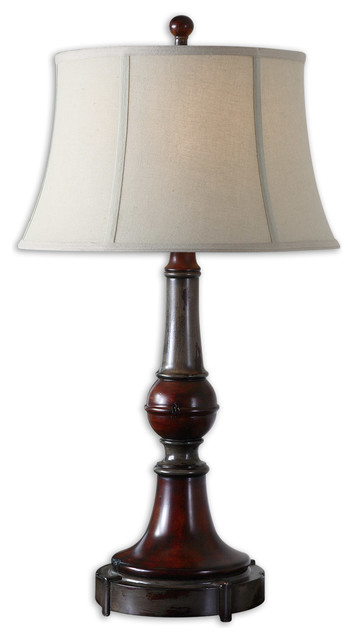 Bevin Solid Wood Table Lamp transitional-table-lamps