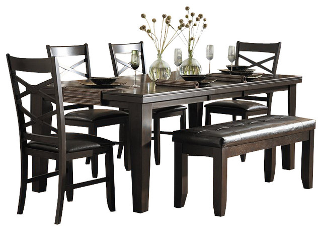 Dining Table Set In Espresso Transitional Dining Sets By Cymax