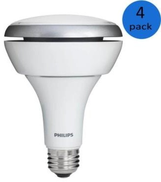 Philips 13-Watt (65-Watt) BR30 Soft White (2700K) Indoor Dimmable LED Flood Ligh contemporary-light-bulbs
