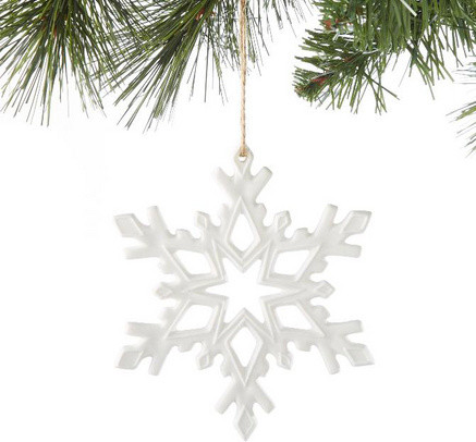 Ceramic Snowflake Ornament, Folk Dance - contemporary - holiday