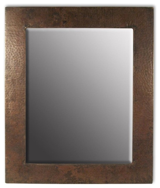 Sedona rectangular hammered copper mirror large 30 in x for Mirror 30 x 36