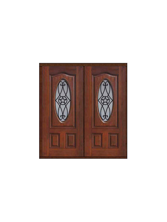 """Prehung Double Door 80 Fiberglass Austin Texas Star Oval Lite - SKU#MCT022WA_DFOAG2BrandGlassCraftDoor TypeExteriorManufacturer CollectionOval Lite Entry DoorsDoor ModelAustinDoor MaterialFiberglassWoodgrainVeneerPrice2840Door Size Options2(32"""")[5'-4""""]  $02(36"""")[6'-0""""]  $0Core TypeDoor StyleTexas StarDoor Lite StyleOval LiteDoor Panel StyleEyebrowHome Style MatchingDoor ConstructionPrehanging OptionsPrehungPrehung ConfigurationDouble DoorDoor Thickness (Inches)1.75Glass Thickness (Inches)Glass TypeDouble GlazedGlass CamingGlass FeaturesTempered glassGlass StyleGlass TextureGlass ObscurityDoor FeaturesDoor ApprovalsEnergy Star , TCEQ , Wind-load Rated , AMD , NFRC-IG , IRC , NFRC-Safety GlassDoor FinishesDoor AccessoriesWeight (lbs)603Crating Size25"""" (w)x 108"""" (l)x 52"""" (h)Lead TimeSlab Doors: 7 Business DaysPrehung:14 Business DaysPrefinished, PreHung:21 Business DaysWarrantyFive (5) years limited warranty for the Fiberglass FinishThree (3) years limited warranty for MasterGrain Door Panel"""