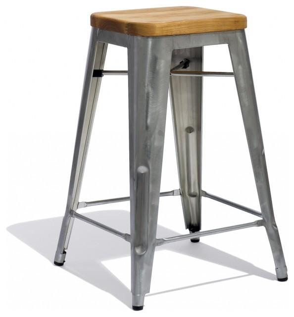 Marais Counter Stool with a Wood Seat Industrial Bar  : industrial bar stools and counter stools from houzz.com size 594 x 640 jpeg 44kB