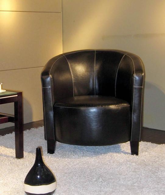 Manhattan Leather Club Chair modern-living-room-chairs