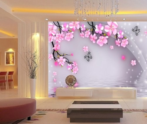 Cherry blossoms wall mural 6 feet 2 inch by 4 feet 1 inch for Cheap wall mural posters