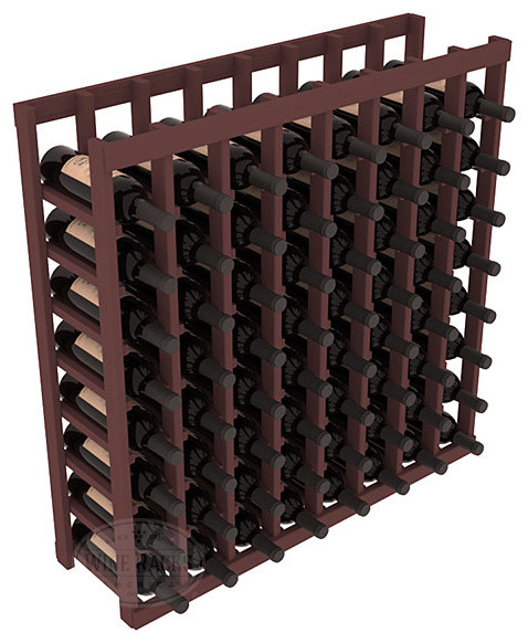 8 Column Standard Tasting Table in Pine with Walnut Stain contemporary-wine-racks