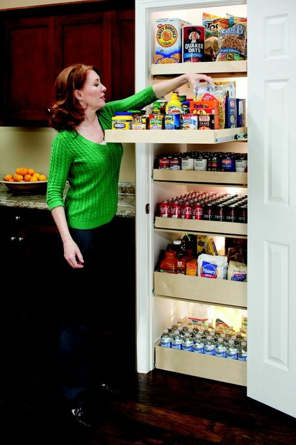 Shelfgenie pantry roll out shelves other metro by - Roll out shelving for pantry ...