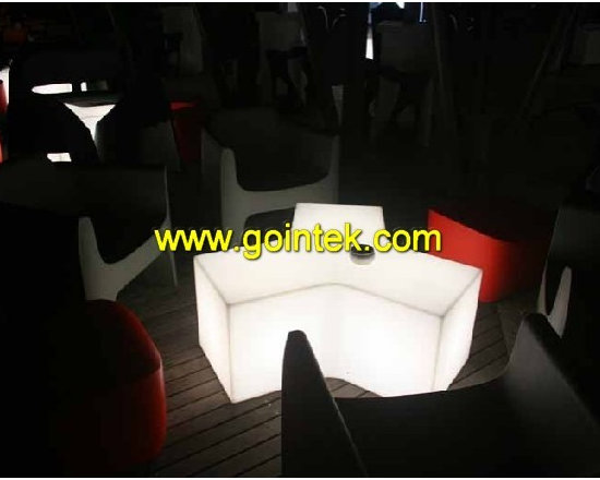 lighting led bar stool chair with remote control -