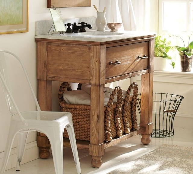 William Single Sink Console - traditional - bathroom vanities and ...