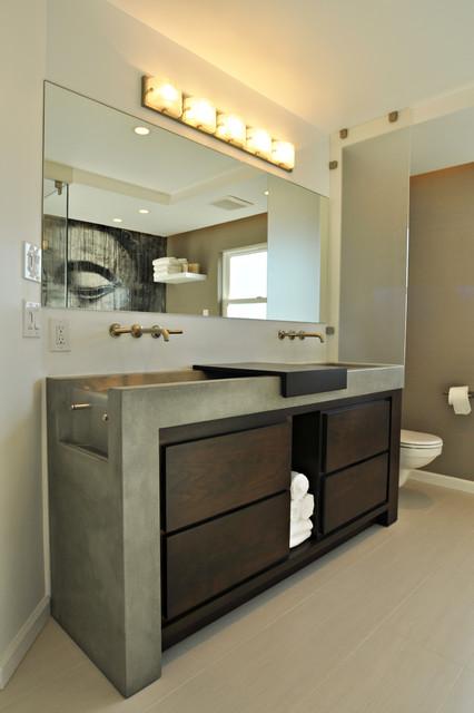 Waterfall concrete sink vanity los angeles for Bathroom vanities los angeles