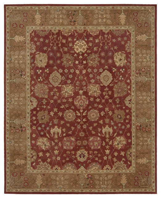 "Heritage Hall HE13 2'6"" x 4'2"" Brick Rug traditional-rugs"