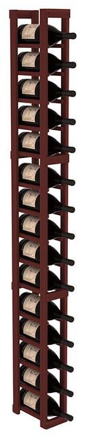 1 Column Magnum/Champagne Cellar Kit in Redwood, Cherry contemporary-wine-racks