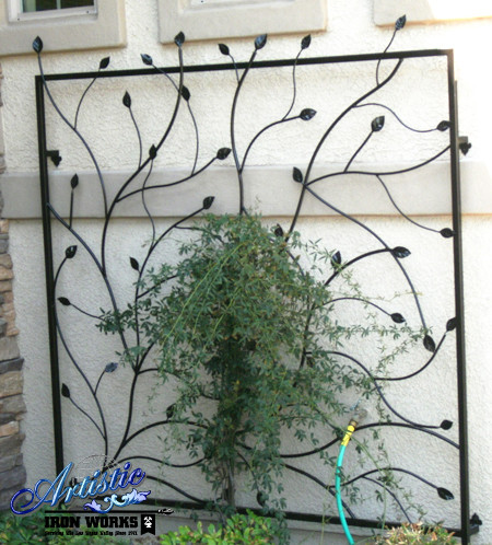 Wrought Iron Trellises Contemporary Home Fencing And