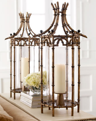 Metal Bamboo Hurricane traditional-candles-and-candle-holders