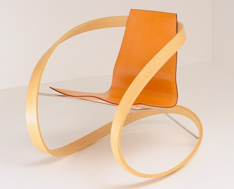Ribbon Rocking Chair by Katie Walker eclectic armchairs
