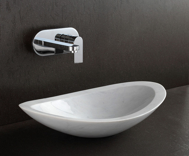 Stone Basin Bathroom : Nero - White Marble Stone Basin - Modern - Bathroom Sinks - brisbane ...