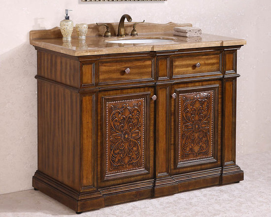 Ornate and Antique Bathroom Vanities - Solid Wood Bathroom Vanities From Legion Furniture – NEW Collections: http://www.homethangs.com/blog/2014/11/solid-wood-bathroom-vanities-from-legion-furniture/