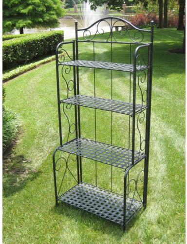 Iron Patio Baker's Rack - Modern - Display And Wall Shelves