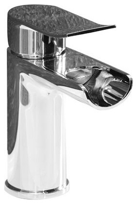 Nikos Waterfall Basin Tap modern-bathroom-faucets