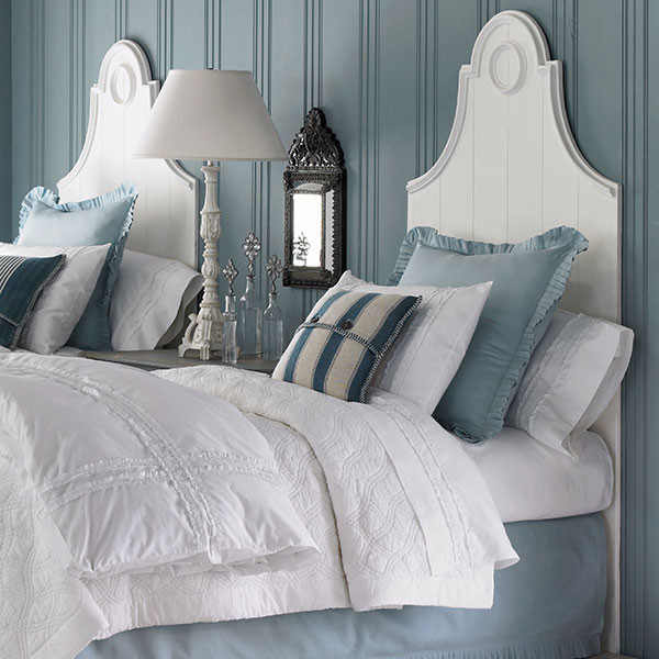 French Country Headboard-White- Twin traditional-headboards
