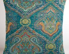 Peacock Jacquard Venetian Pillow eclectic-decorative-pillows