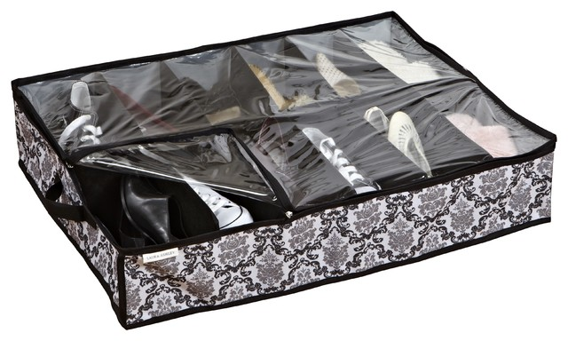 Under the Bed 12-pair Shoe Organizer contemporary-closet-organizers