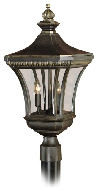 "Traditional Devon Collection 23"" High Outdoor Post Light traditional-outdoor-lighting"