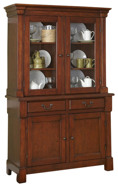 Home Styles Aspen Buffet and Hutch in Rustic Cherry - Transitional - China Cabinets And Hutches ...