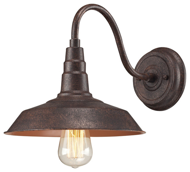Wall Sconces Urban Barn : Urban Lodge 1-Light Sconce In Weathered Bronze - Rustic - Wall Sconces - by ELK Group International