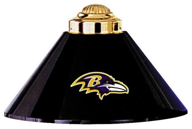 Baltimore ravens nfl 3 modern game room and bar decor for Baltimore glassware decorators