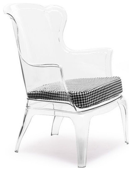 Modern Clear Plastic Lounge Chair Vision modern-accent-chairs
