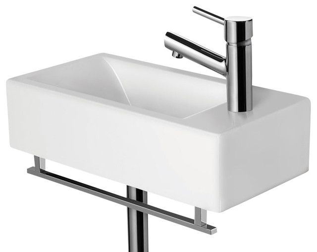 ... Small Modern Rectangular Wall Mounted Bathroom Sink modern-bathroom