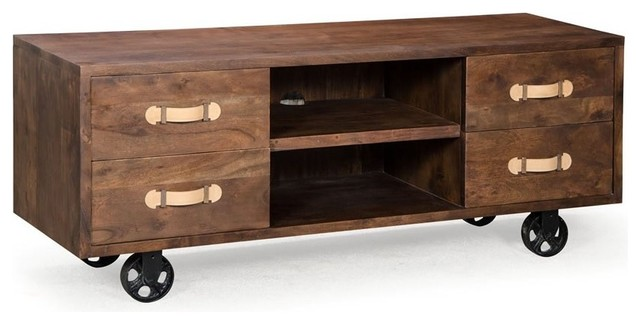 Dutch Low Media Console Dresser - Industrial - Entertainment Centers ...