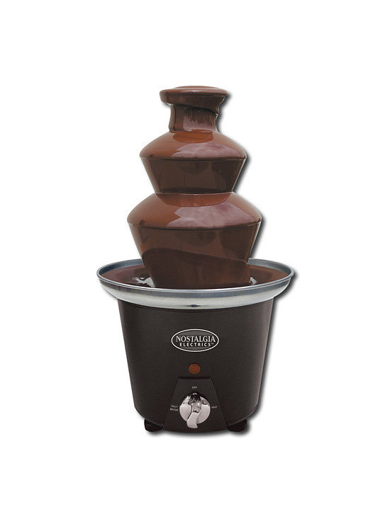 Mini Chocolate Fondue Fountain - If your mom is anything like mine, she'd love pulling out this chocolate fountain at parties!