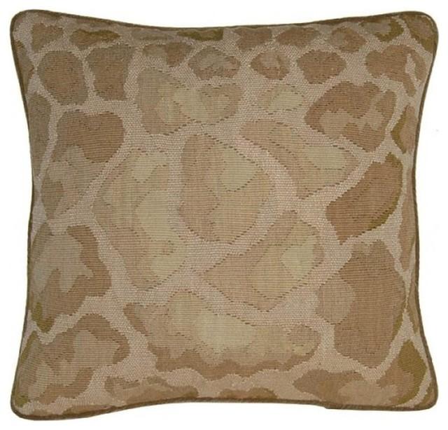 "New Leopard Spot Throw Pillow 20""x20"" traditional-decorative-pillows"