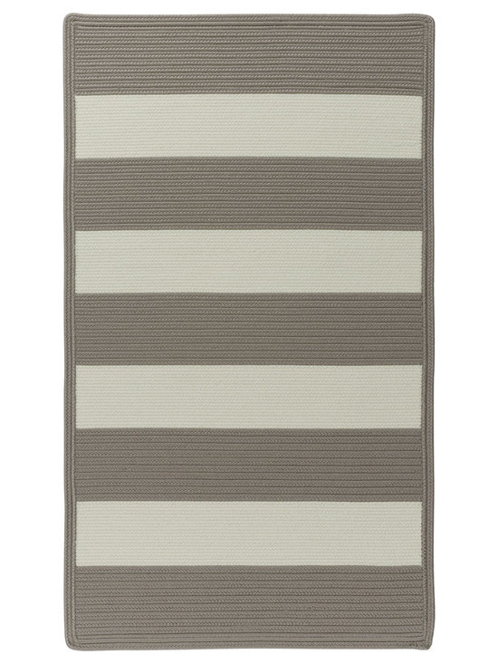 Cabana Stripes rug in Taupe - Cabana Stripes is a Capel braided outdoor rug in an easy to use, natural color palette. This Capel Anywhere™ rug works well with today's outdoor fashion fabrics.