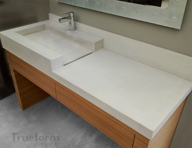 Concrete Sink Contemporary Bathroom Sinks new york