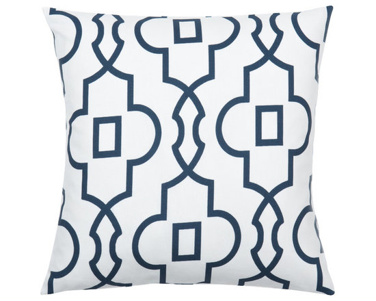 Look Here Jane, LLC - Bordeaux Navy Pillow Cover - PILLOW COVER