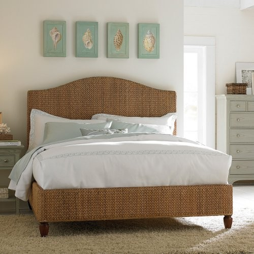 Ashby Park Banana Leaf Woven Bed contemporary-beds