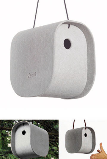 Vladimir Jaccard: Birdy Modern Bird House contemporary birdhouses