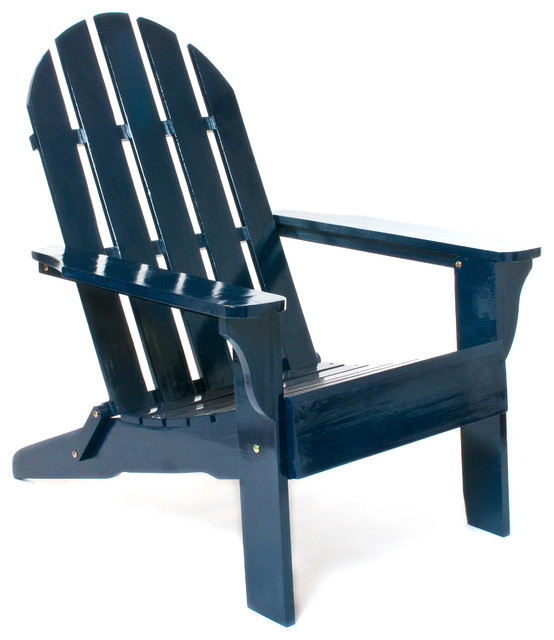 Navy Adirondack Chair Contemporary Living Room Chairs