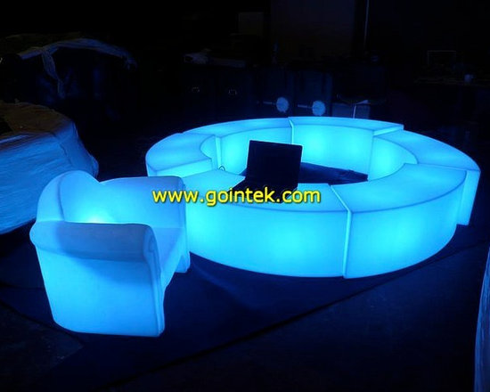 glowing led chair -