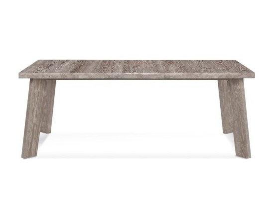 Saloom Furniture - Saloom Furniture | Lenox Rectangular Extension Oak Dining Table - Design by Peter Francis.
