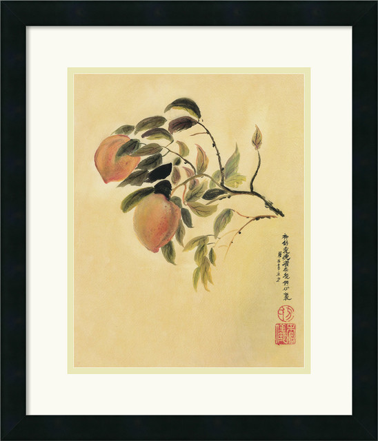 Peaches Framed Print by Suzanna Mah Fong traditional-prints-and-posters
