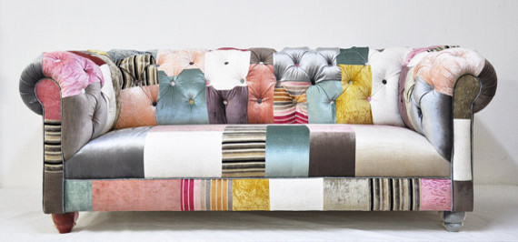 Chesterfield Patchwork Sofa by Name Design Studio eclectic sofas