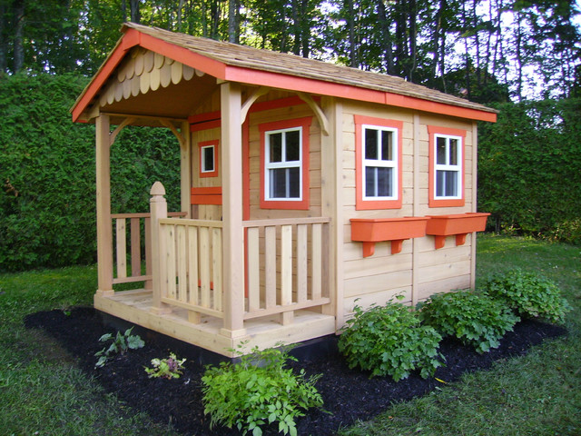 Outdoor Playhouses Toy : Sunflower playhouse wooden cedar kit contemporary
