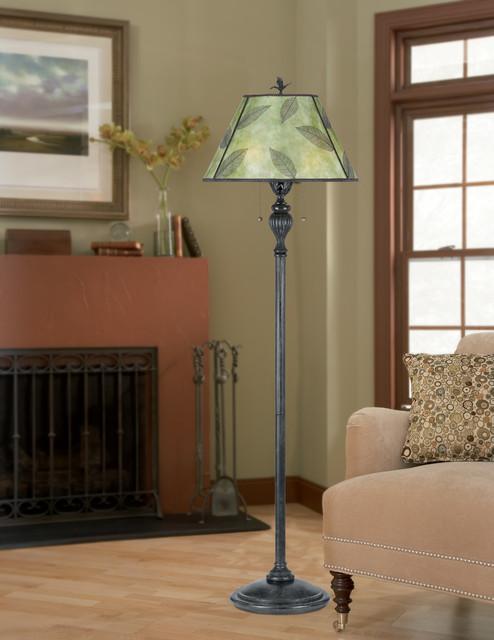 Mica Leaf Floor Lamp from Quoizel Lighting living-room