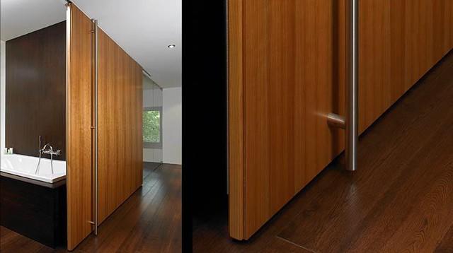 Extra wide floor-to-ceiling sliding door - B49 modern-interior-doors